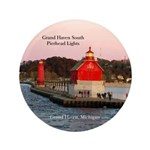 Grand Haven South Pier Lights Button