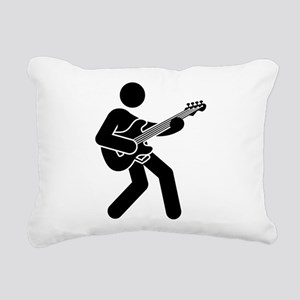 Bassist Rectangular Canvas Pillow