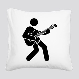 Bassist Square Canvas Pillow