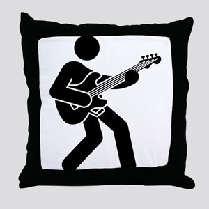 Bassist Throw Pillow