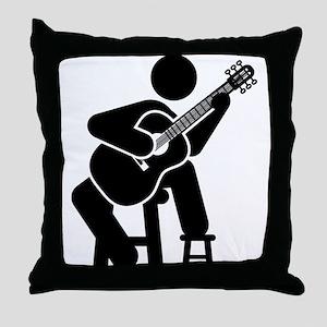Classical Guitar Throw Pillow