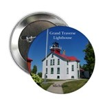 "Grand Traverse Lighthouse 2.25"" Button"