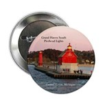 "Grand Haven South Pier Lights 2.25"" Button"