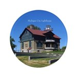 Michigan City Lighthouse Button
