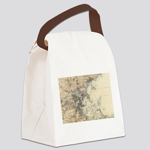 Vintage Boston Topographic Map (1 Canvas Lunch Bag