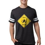 Trekkie Crossing Sign Mens Football Shirt