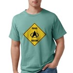 Trekkie Crossing Sign Mens Comfort Colors Shirt