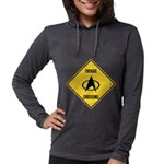 Trekkie Crossing Sign Womens Hooded Shirt