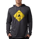 Trekkie Crossing Sign Mens Hooded Shirt