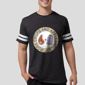 Pork Chops and Applesauce. Mens Football Shirt