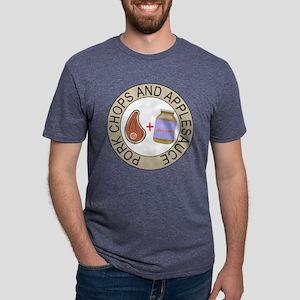 Pork Chops and Applesauce. Mens Tri-blend T-Shirt
