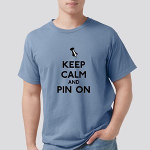 Keep Calm and Pin On Mens Comfort Colors Shirt