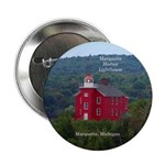 "Marquette Harbor Lighthouse 2.25"" Button"