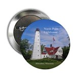 "North Point Lighthouse 2.25"" Button"
