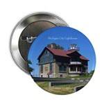 "Michigan City Lighthouse 2.25"" Button"