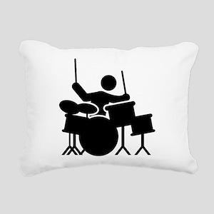 Drummer Rectangular Canvas Pillow