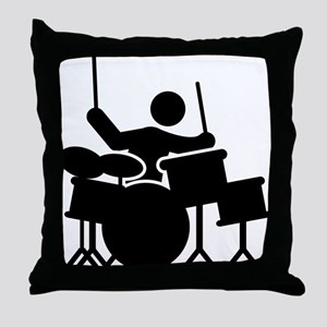 Drummer Throw Pillow