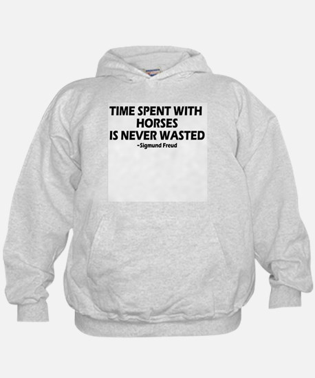 Time spent with horses, wise Hoodie