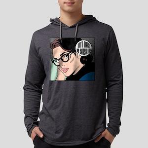 Retro Librarian Humor Mens Hooded Shirt