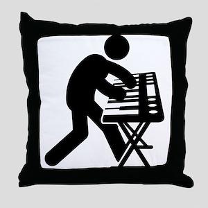 Keyboardist Throw Pillow