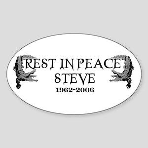 RIP Steve Irwin Oval Sticker
