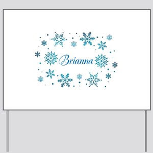 Custom name Snowflakes Yard Sign