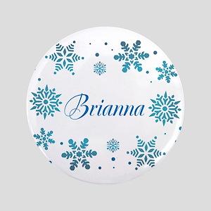 """Custom name Snowflakes 3.5"""" Button"""