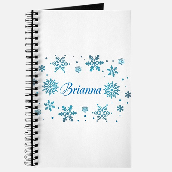 Custom name Snowflakes Journal