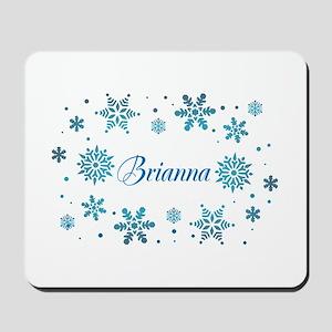 Custom name Snowflakes Mousepad
