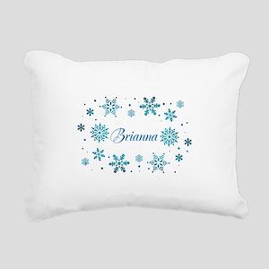 Custom name Snowflakes Rectangular Canvas Pillow
