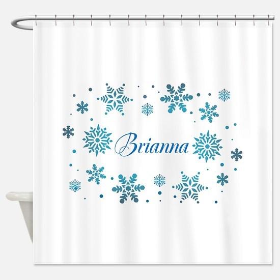 Custom name Snowflakes Shower Curtain