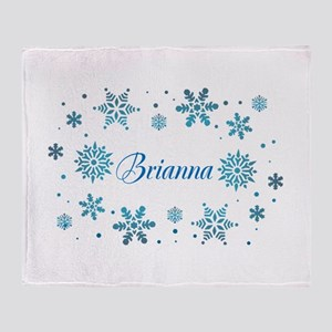 Custom name Snowflakes Throw Blanket
