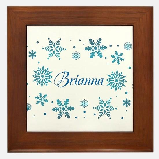 Custom name Snowflakes Framed Tile