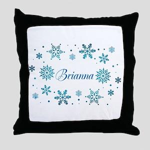 Custom name Snowflakes Throw Pillow