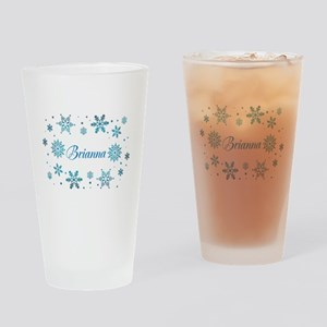 Custom name Snowflakes Drinking Glass