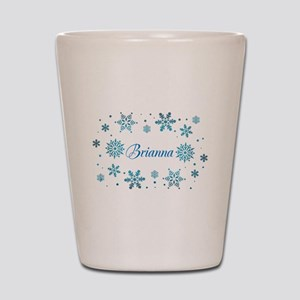 Custom name Snowflakes Shot Glass