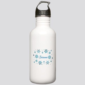 Custom name Snowflakes Stainless Water Bottle 1.0L