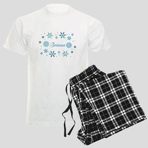 Custom name Snowflakes Men's Light Pajamas