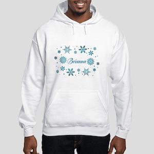 Custom name Snowflakes Hooded Sweatshirt