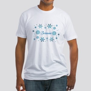 Custom name Snowflakes Fitted T-Shirt