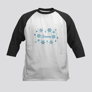 Custom name Snowflakes Kids Baseball Jersey