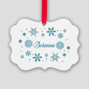 Custom name Snowflakes Picture Ornament