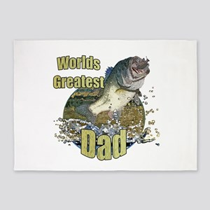 World's greatest dad 5'x7'Area Rug