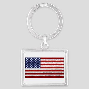 Pledge Of Allegiance In Flag Keychains