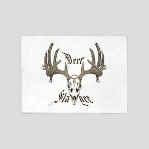 Deer slayer 1 5'x7'Area Rug