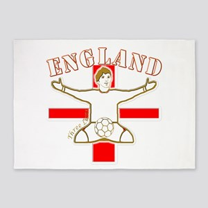 England St George Footballer 5'x7'Area Rug
