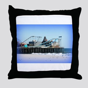 Seaside Heights Forever Throw Pillow