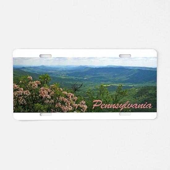 Pennsylvania Mountain Laurel Aluminum License Plat