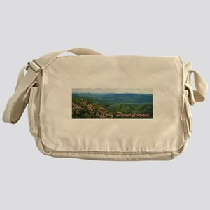 Pennsylvania Mountain Laurel Messenger Bag