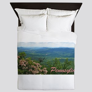 Pennsylvania Mountain Laurel Queen Duvet